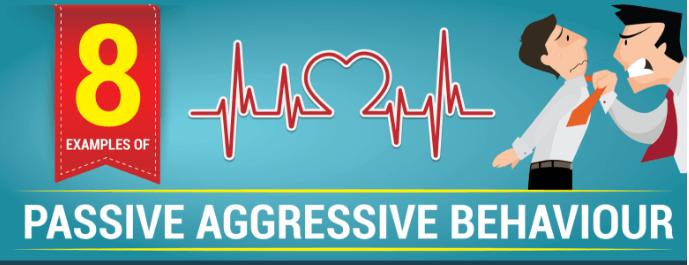 8 Examples of Passive Aggressive Behaviour infographic